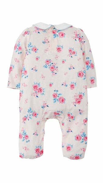 Mud-Pie Blush Floral Sleeper