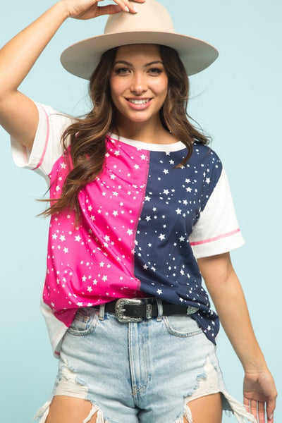 Pink Starry Night Top