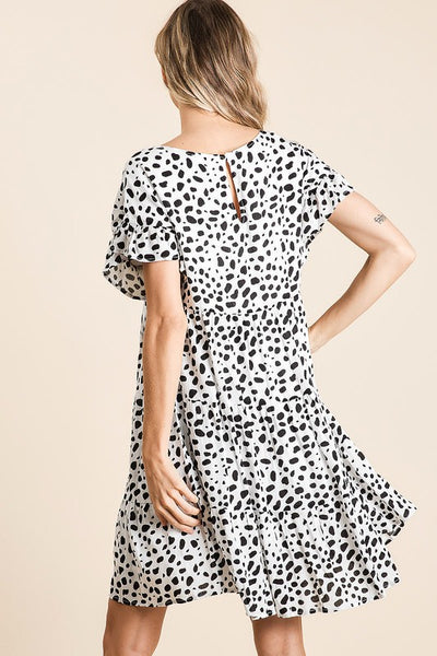 Black Sarah Leopard Dress