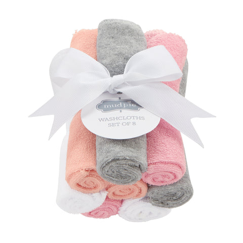 Mud-Pie Girl Washcloth Set