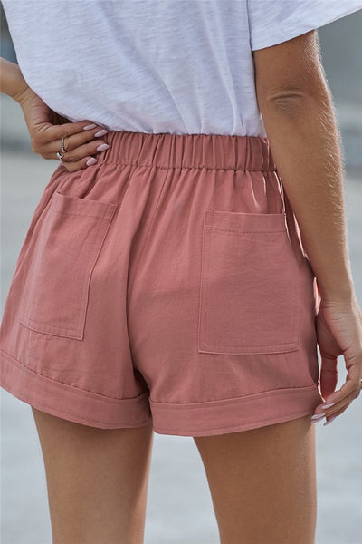 Pink Kelly Pocket Shorts