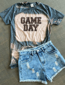 Game Day Bleached Graphic Tee