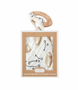 Mud-Pie Football Teether And Cuddler