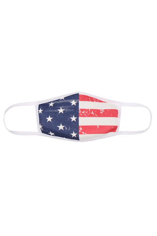 KIDS American Flag Face Mask