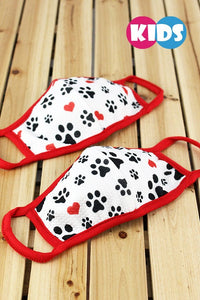 KIDS Paw Print Face Mask