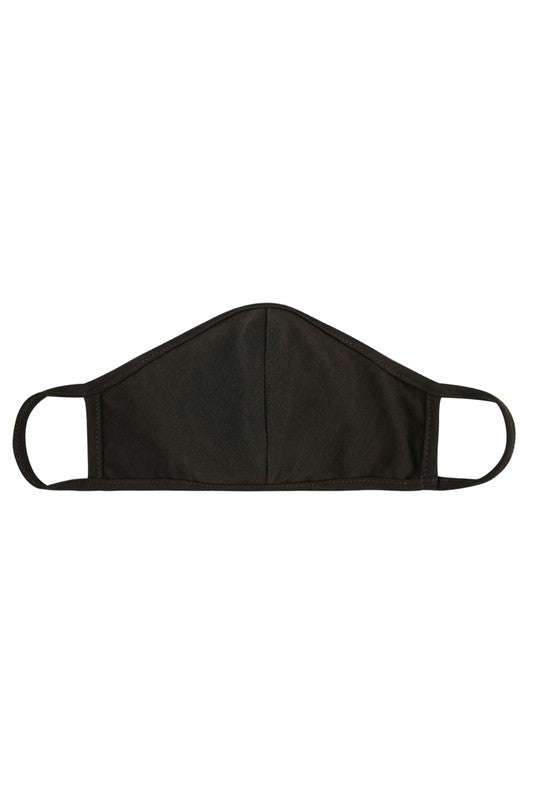 KIDS Black Mask with Filter Pocket