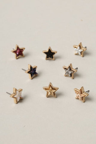 Star Shaped Druzy Earrings