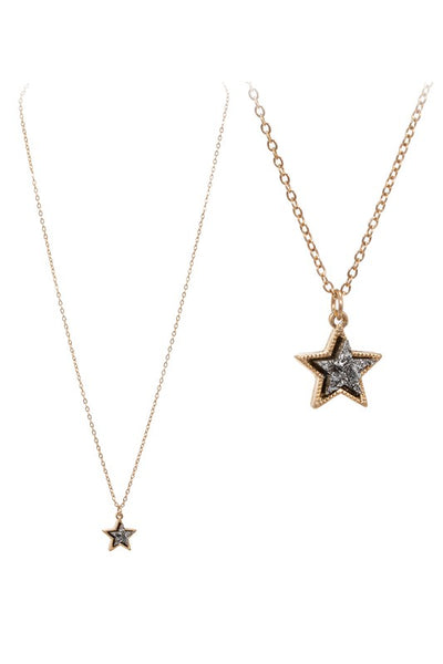 Star Shaped Druzy Necklace