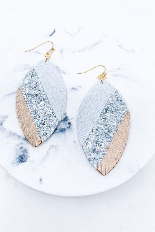 Silver Fringed Sequin Earrings