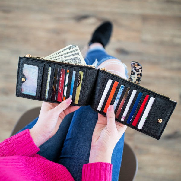 Slim Credit Card Zipper Wallet