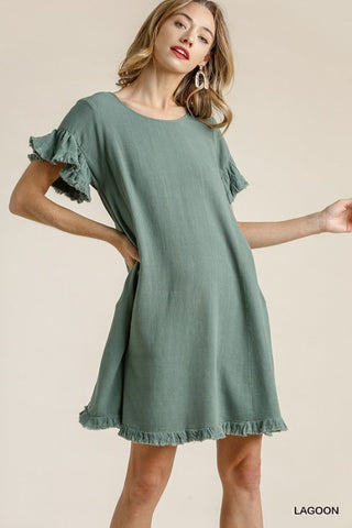 Lagoon Terri Linen Dress