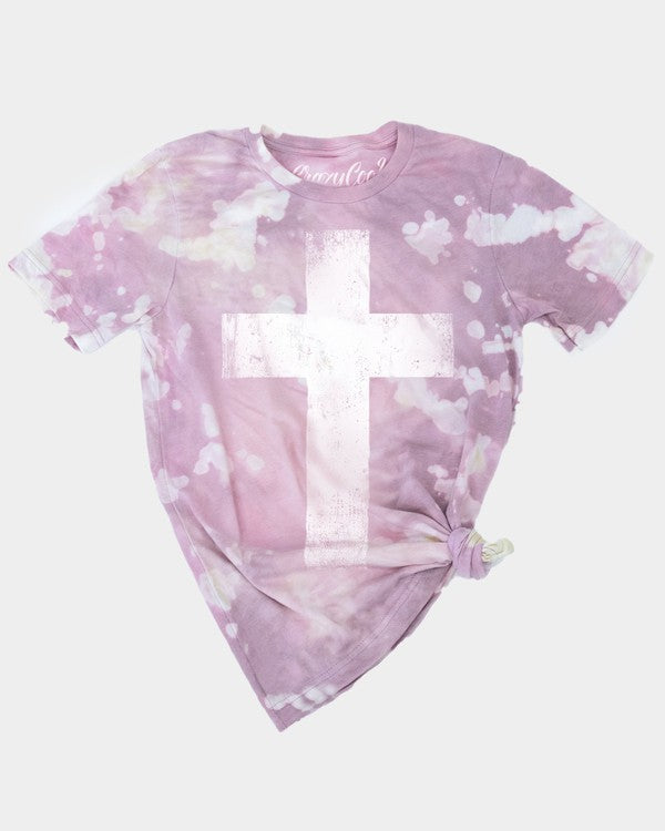 Bleached Cross Graphic Tee