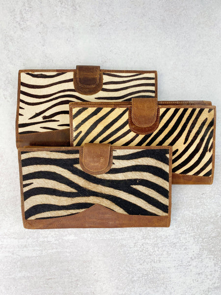 Stripes Genuine Leather and Hide Wallet