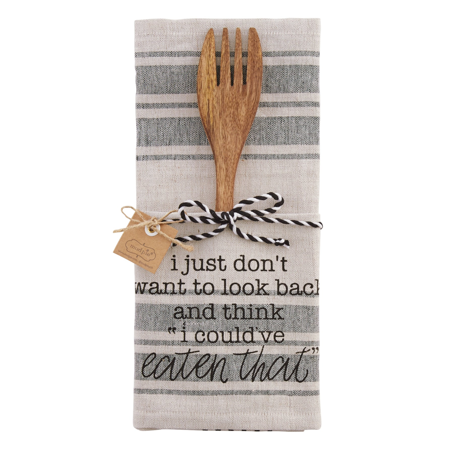 Mud-Pie Look Back Kitchen Towel & Utensil Set