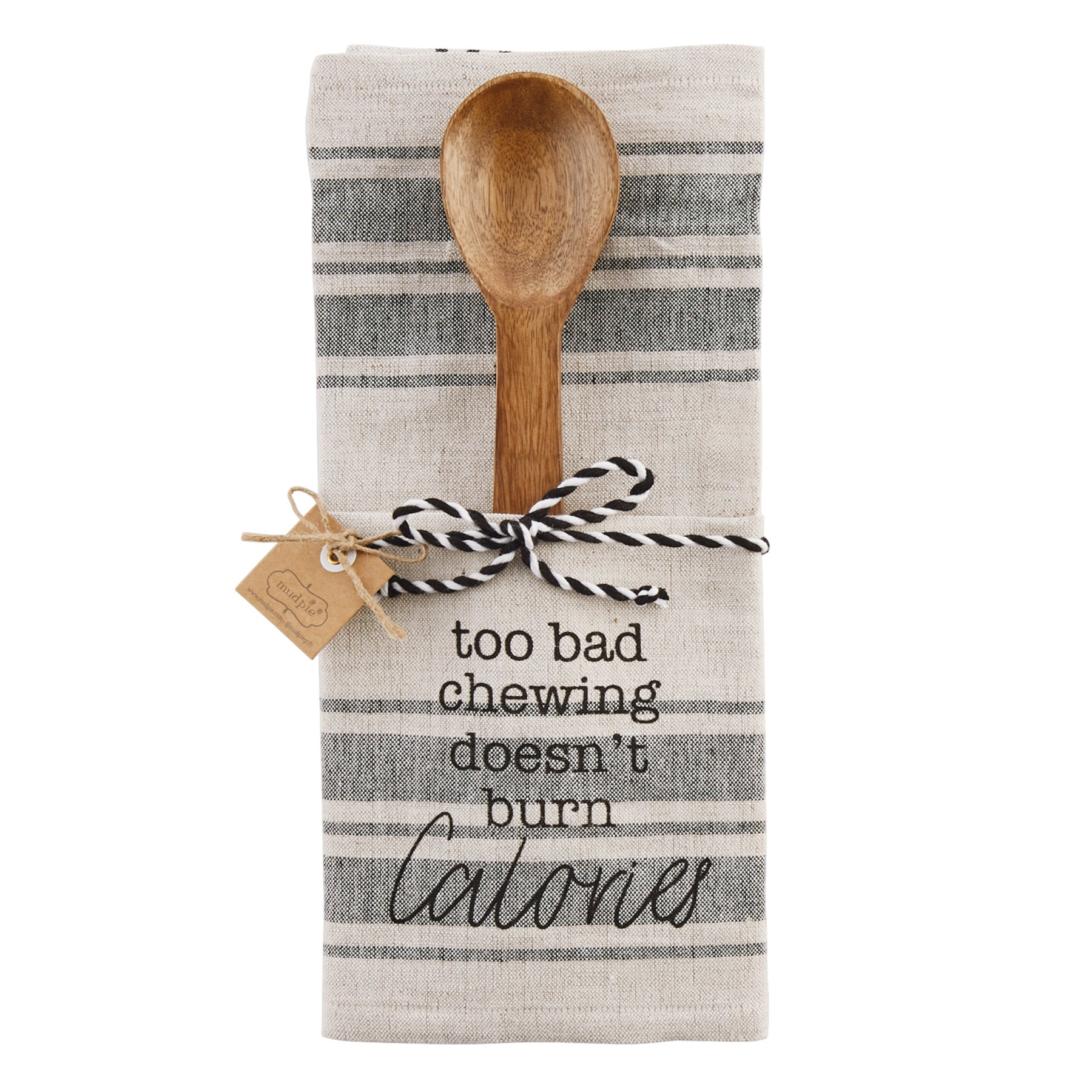 Mud-Pie Chewing Kitchen Towel & Utensil Set