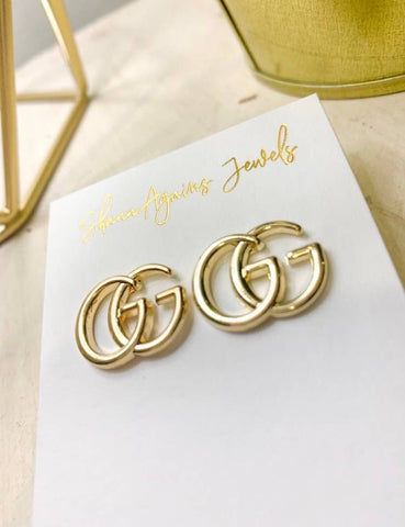 Gold GG Logo Earrings