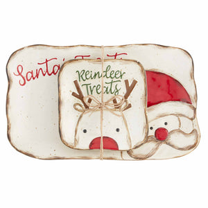 Mud-Pie Farm Santa Cookie Set