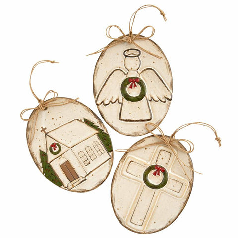 Mud-Pie Farmhouse Ornaments