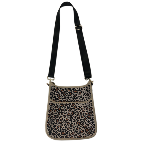Leopard Neoprene Messenger Bag w/ Strap