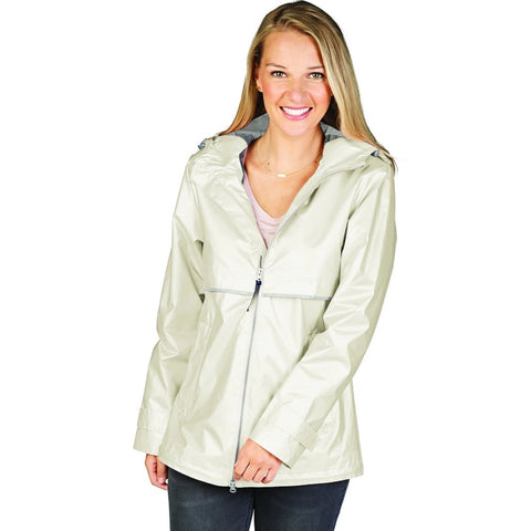 Women's New Englander® Rain Jacket-Mother of Pearl