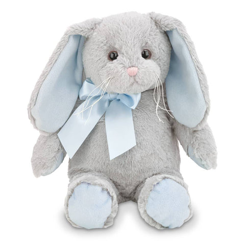 Lil' Hopsy Gray Bunny with Blue Ears