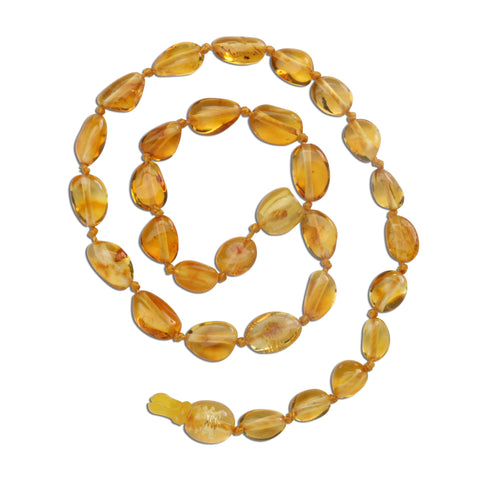 Amber Teething Necklace - Lemon Polished