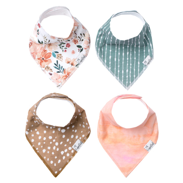 Copper Pearl Autumn Bandana Bib Set