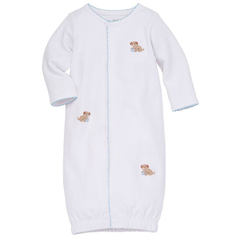 Mud-Pie Blue French Knot Puppy Sleep Gown