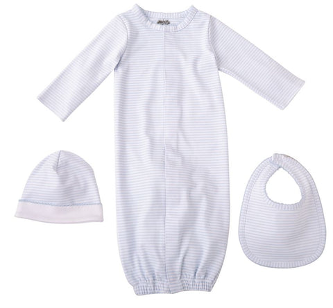 Mud-Pie Blue Layette Infant Gift Set