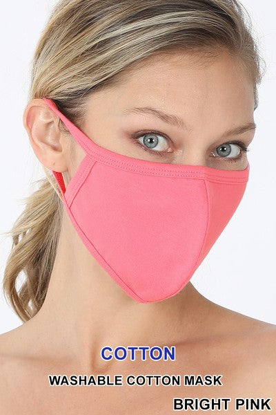Bright Pink Face Mask