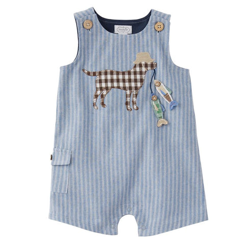 Mud-Pie Chambray Fishing Pup Shortall