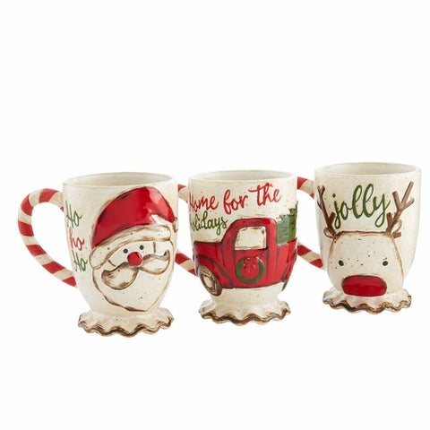 Mud-Pie Christmas Farmhouse Mugs