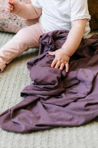 Copper Pearl Plum Single Knit Swaddle