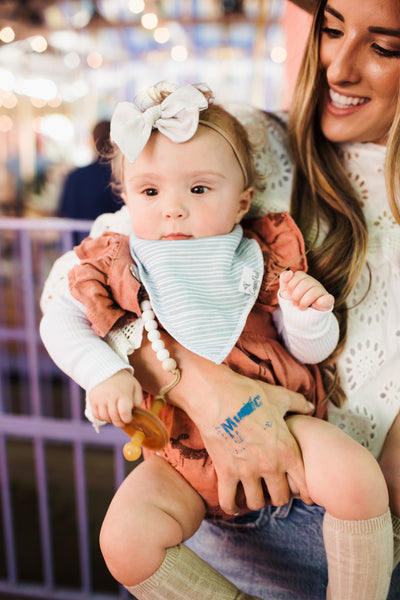 Copper Pearl Summer Bandana Bib Set