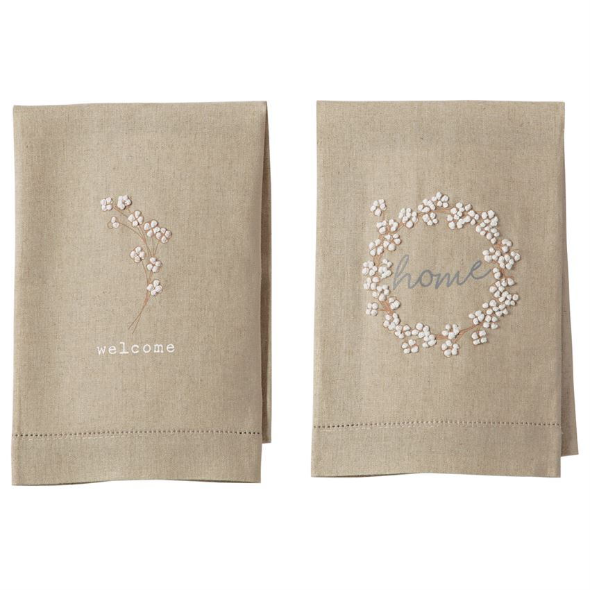 Mud-Pie Cotton French Knot Towels