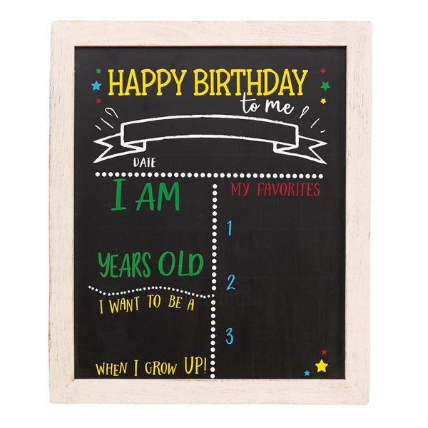 Mud-Pie Double Sided Birthday & Back To School Chalkboard Sign