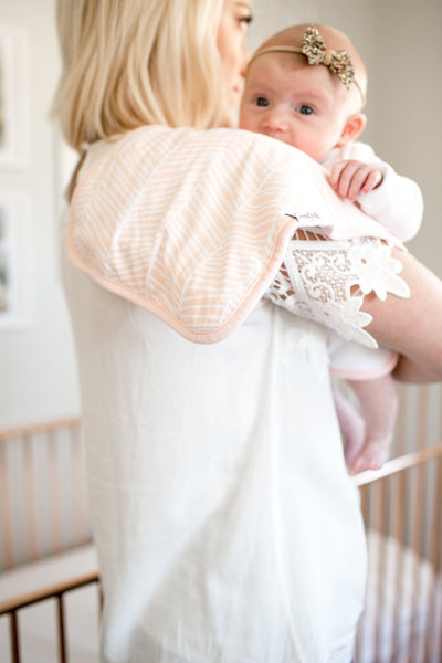 Copper Pearl Blush Burp Cloth Set