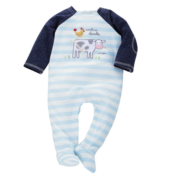 Mud-Pie Farm Animal Raglan Sleeper