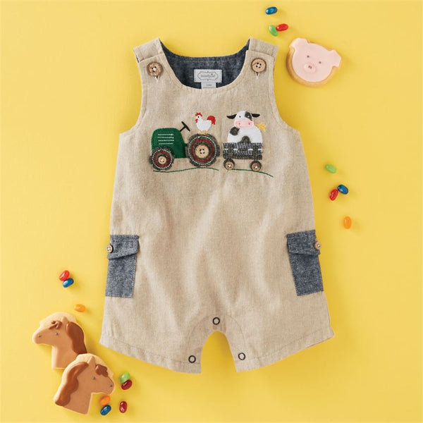 Mud-Pie Chambray Farmhouse Shortall