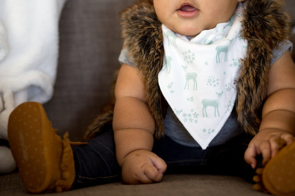 Copper Pearl Fawn Bandana Bib Set