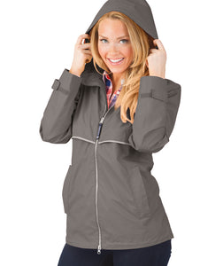 Women's New Englander® Rain Jacket-Grey