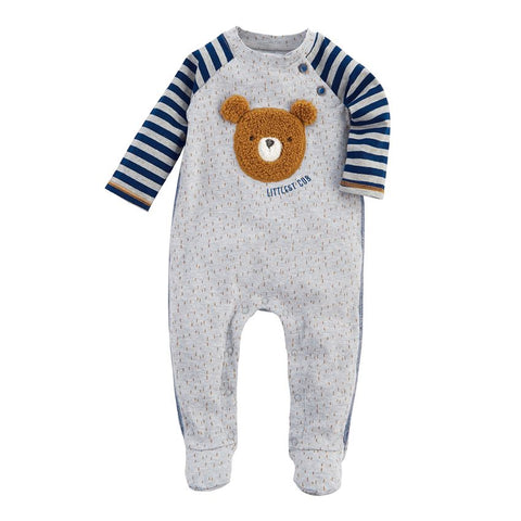 Mud-Pie Littlest Cub Cotton Footed Sleeper