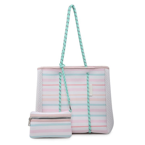 Multi Stripe Meribella Neoprene Bag