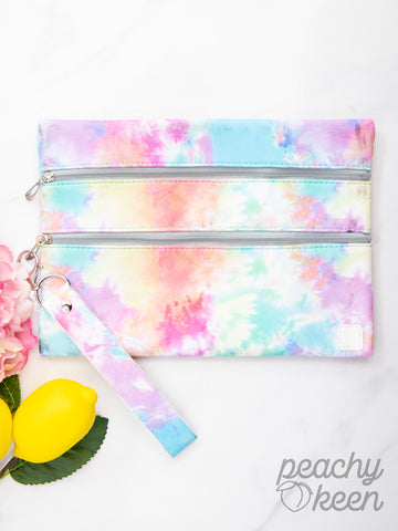 Electric Dreamer Tie Dye Double Zipper Versi Bag