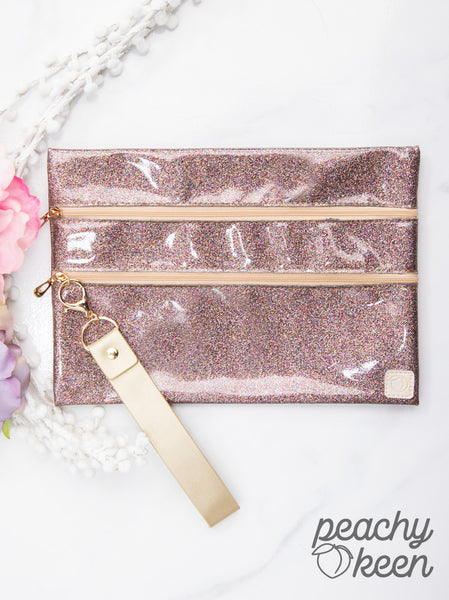 Glittering Lights Double Zipper Versi Bag