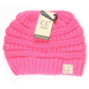 Kids Solid New Candy Pink CC Beanie