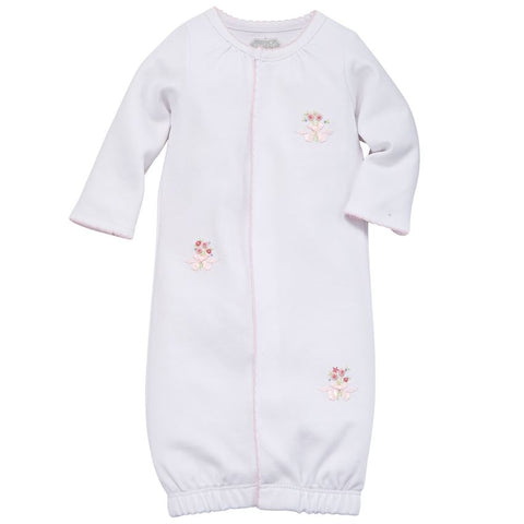 Mud-Pie Pink French Knot Rosette Sleep Gown
