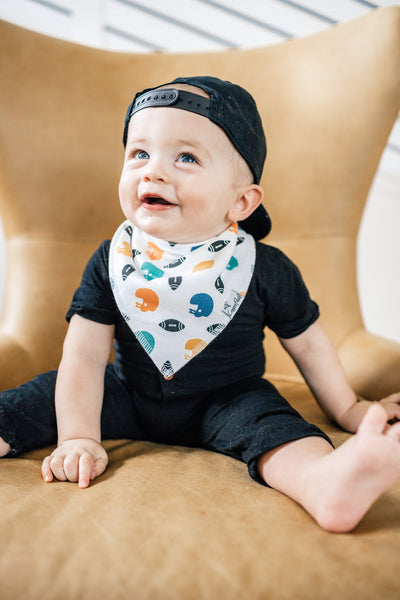 Copper Pearl Quarterback Bandana Bib Set