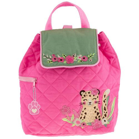 Leopard Quilted Backpack