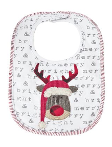 Mud-Pie Reindeer & Santa Sentiment Bibs